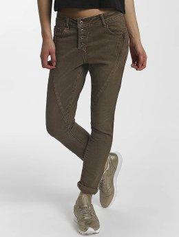 Leg Kings Boyfriend Jeans Z&Z hnědožlutý