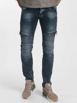 Leg Kings Skinny Jeans Zipper blau