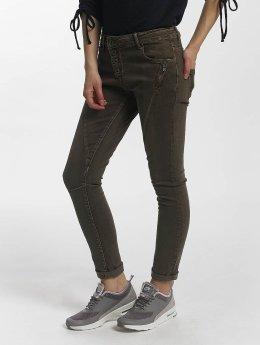 Leg Kings Skinny Jeans Zac Zoe hnědožlutý