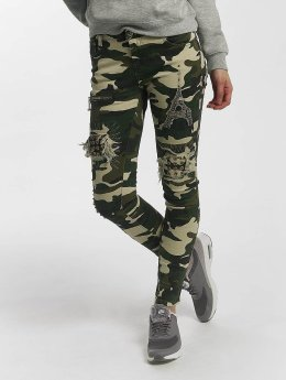 Leg Kings Skinny Jeans Deep Forest kamufláž