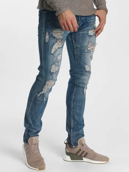Leg Kings Slim Fit Jeans Destroyed blå