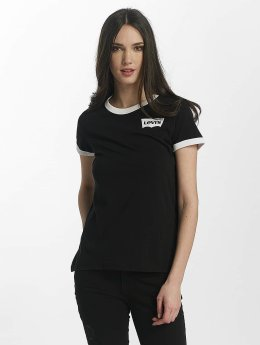 Levi's® T-Shirt Perfect Ringer schwarz