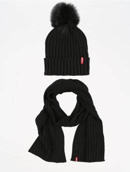 Levi's® Wintermütze Fur Pom  schwarz