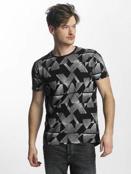 Lindbergh Camiseta All Over Printed negro