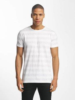 Lindbergh T-Shirt Nep YD Stripe blanc