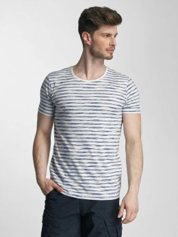 Lindbergh t-shirt Yarn Dyed Striped blauw