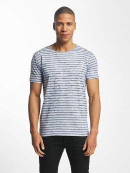 Lindbergh Striped Mouline T-Shirt Blue Mix