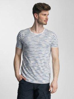 Lindbergh T-Shirt Yarn Dyed Striped bleu