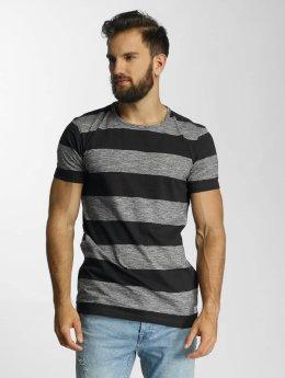 Lindbergh T-Shirt Uneven Stripes blue