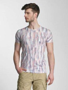 Lindbergh T-shirt Allover Print O-Neck färgad