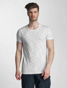 Lindbergh Yarn Dyed Striped T-Shirt Grey