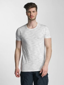 Lindbergh t-shirt Yarn Dyed Striped grijs