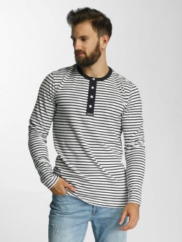 Lindbergh T-Shirt manches longues Striped Ganddad blanc