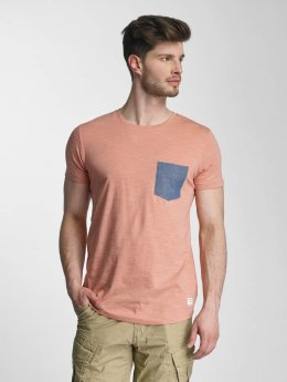 Lindbergh T-Shirt Dyed O-Neck rose
