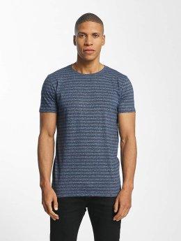Lindbergh T-shirts Striped Mouline blå