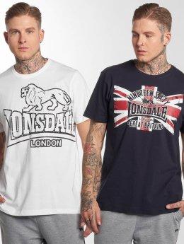 Lonsdale London Camiseta Portencross 2-Pack blanco