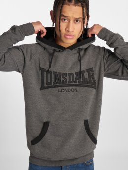 Lonsdale London Sweat capuche Ashford Hill gris