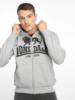 Krafty Sweat Capuche London Gris Lonsdale Zippé AHq0xyAB