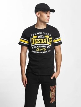 Lonsdale London T-paidat Congleton Slim Fit musta