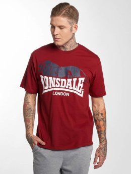 Lonsdale London T-Shirt Berry Head  red