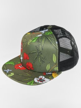 LRG Trucker Caps Floral oliwkowy