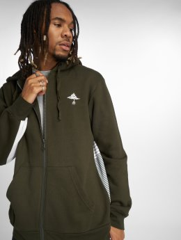 LRG Zip Hoodie Set In Stripe grön