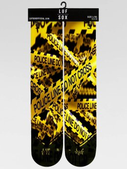 LUF SOX Chaussettes Classics Police Line jaune