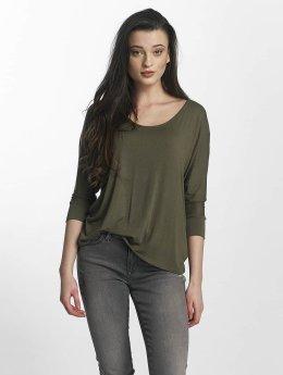 Mavi Jeans Longsleeve Basic Zip grün