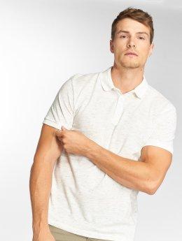 Mavi Jeans Poloshirt Marled weiß