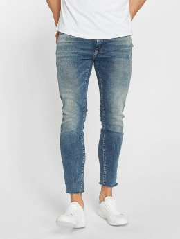Mavi Jeans Straight fit jeans Leo Cropped blauw