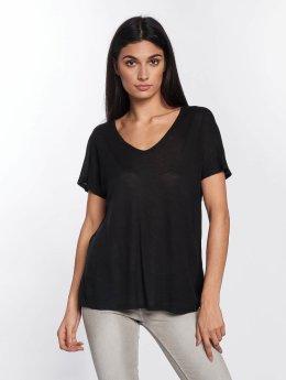 Mavi Jeans T-Shirt V-Neck schwarz