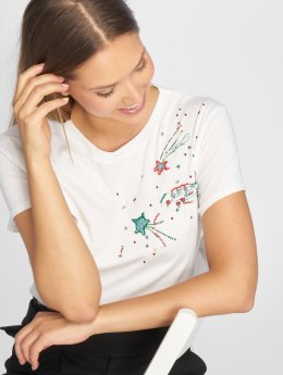 Mavi Jeans T-shirts Galaxy Applique hvid