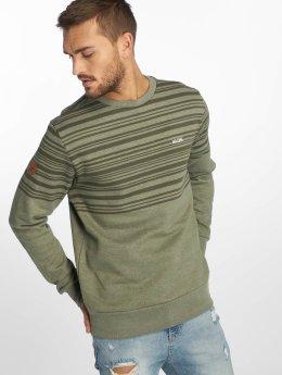 Mazine Пуловер Mitcham Striped Heavey оливковый