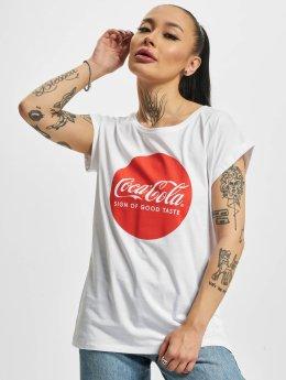 Merchcode Camiseta Coca Cola Round Logo blanco