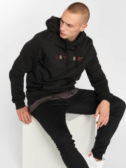 Merchcode Hoody Hustler Embroidery zwart