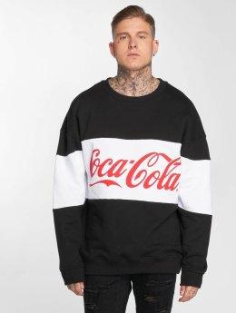 Merchcode Pullover Coca Cola Stripe Oversized black
