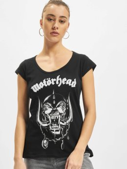 Merchcode T-paidat Ladies Motörhead Logo Cutted Back musta