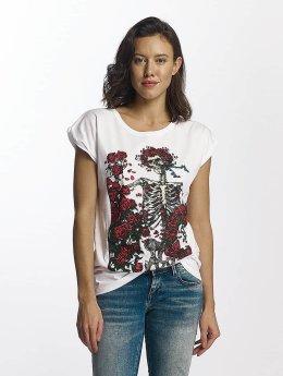 Merchcode T-Shirt Grateful Dead Rose blanc
