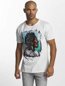 Merchcode T-Shirt Jimi Hendrix Palms blanc