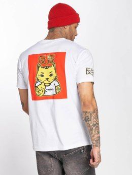 Merchcode T-Shirt Asia Cat blanc