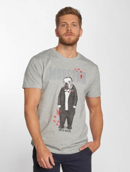 Merchcode T-Shirt Petsrock Dogfather grau
