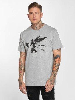 Merchcode t-shirt Linkin Park Street Soldier grijs