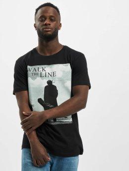 Merchcode T-Shirt Johnny Cash Walk The Line schwarz