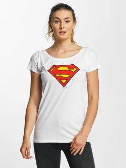Merchcode T-Shirt Superman Logo weiß