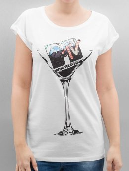 Merchcode t-shirt Ladies MTV Cocktail wit
