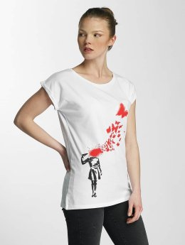 Merchcode t-shirt Ladies Banksy wit