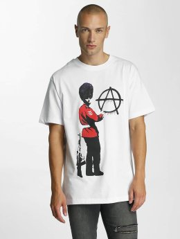 Merchcode t-shirt Banksy Anarchy wit