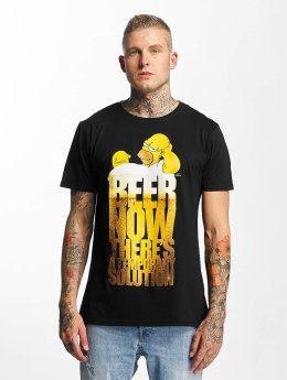 Merchcode t-shirt Simpsons Beer Now zwart
