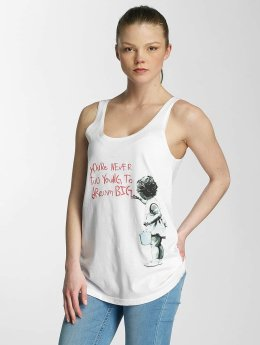 Merchcode Tank Tops Ladies Banksy Girl Dream valkoinen