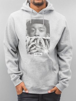Mister Tee Hoodies Wiz Khalifa Half Face šedá